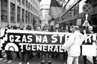 """Time for general strike"" (union demonstration in Warsaw, 14th of September 2013)"